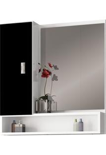 Espelheira Em Mdf Orquídea 60X57Cm Preta