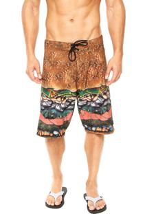 Bermuda Água Lost Boardshort Big Diet Burguer Multicolorida