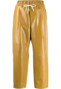Givenchy Drawstring Waist Cropped Trousers - Amarelo