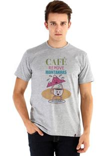 Camiseta Ouroboros O Poder Do Café Cinza