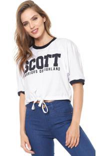 Camiseta Cropped Lez A Lez Scott Branca