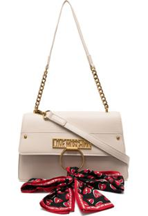 Love Moschino Scarf-Embellished Shoulder Bag - Neutro