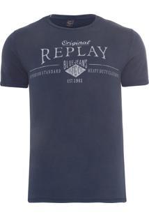 Camiseta Masculina Est 1981 - Azul