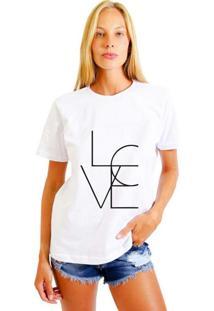 Camiseta Básica Joss 4Love Branco - Kanui