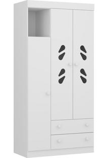 Guarda Roupa Multimóveis 2664.156 3 Portas 2 Gavetas Branco Premium