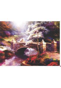 Quadro Decorativo Ponte Na Floresta - Multicolorido - Dafiti