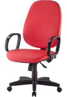 Cadeira Corporate Presidente Cor Vermelho Com Base Nylon - 43935 - Sun House