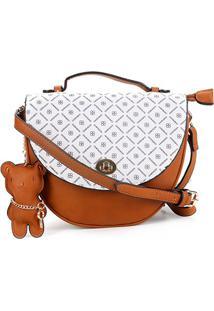 Bolsa Chenson Mini Bag Estampada Feminina - Feminino-Branco