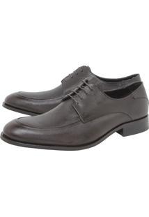 Sapato Social Couro Vr Textura Marrom