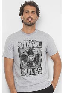 Camiseta Burn Vinyl Rules Masculina - Masculino