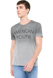 Camiseta Calvin Klein Jeans American Youth Cinza