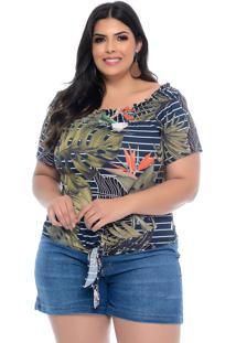 Blusa Plus Size Elegance All Curvesm Ombro A Ombro Estrelícia