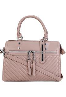 Bolsa Santa Lolla Handbag Matelassê Feminina - Feminino-Bege Escuro