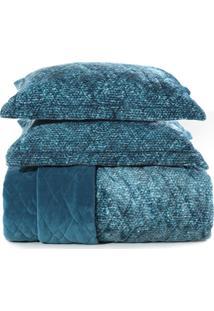 Jogo De Colcha King Blend Fashion - Signa Azul