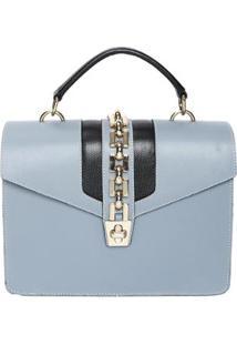 Bolsa De Couro Griffazzi Celeste - Feminino-Azul Claro