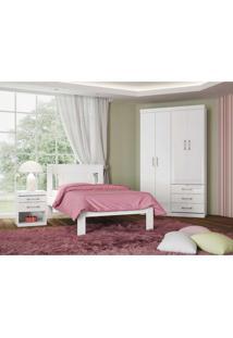Dormitório Solteiro Plus Branco/Fúcsia Santos Andirá - Tricae