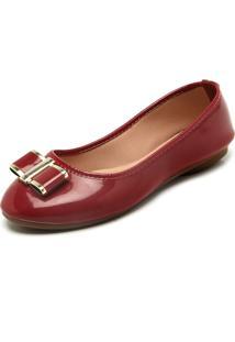 Sapatilha Dafiti Shoes Aplique Vinho