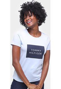 Camiseta Tommy Hilfiger Estampada Feminina - Feminino