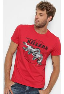 Camiseta Ellus 2Nd Floor Estampa Cobra Masculina - Masculino-Vermelho Claro