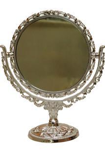 Espelho Real Arte Rococó Prata