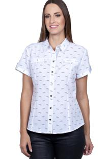 Camisa Love Poetry Estampada Branca
