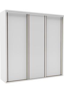 Guarda-Roupa Casal 2,27Cm 3 Portas Inovatto Semi Brilho-Belmax - Branco