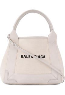 Balenciaga Bolsa Tote 'Cabas' Pequena - Neutro