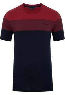 Camiseta Listradora Marinho E Vermelha Star
