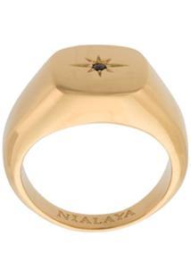Nialaya Jewelry Anel 'Skyfall Starburst' Banhado A Ouro - Metálico