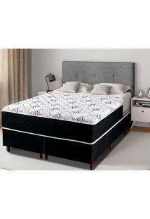 Cama Box Queen Com Pillow In Grecia - Mappin - Preto