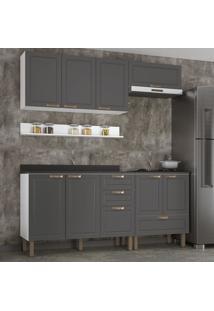 Cozinha Completa 6 Peã§As Americana Multimã³Veis 5914 Branco/Grafite - Branco/Incolor - Dafiti