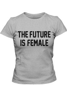 Camiseta Blitzart Future Is Female Cinza