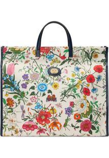 3c72b38a3 ... Gucci Bolsa Tote Flora Grande - Branco