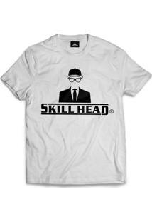 Camiseta Skill Head Logotipo Branco