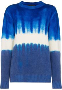 The Elder Statesman Tie-Dye Print Cashmere Jumper - Azul