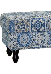 Puff Decorativo Elisa Lymdecor Tecido Azul