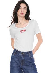 Blusa Tommy Hilfiger Lettering Branca