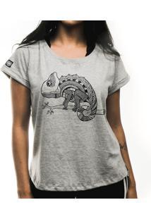 Camiseta Feminina Cosmos Cinza