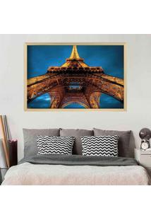 Quadro Love Decor Com Moldura Torre Eiffel La Nuit Madeira Clara Grande