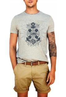 T-Shirt Joss Mescla Summer Nautical Cinza