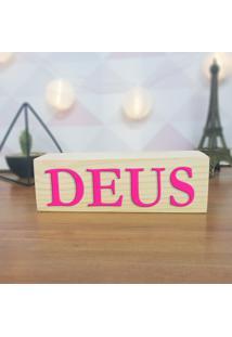 Cubo Decorativo Com Letras Em Acrílico Deus
