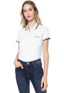 Camisa Polo Calvin Klein Jeans Logo Branca