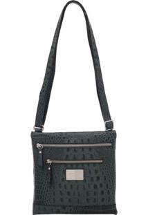 Bolsa Smart Bag Couro Transversal - Feminino-Verde