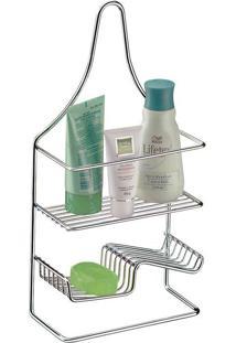 Porta Shampoo E Sabonete De Bancada Future, Cromado