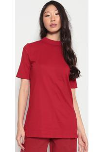 Blusa Alongada Com ZãPer-Vermelhaosklen