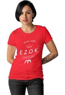 Camiseta Ezok Royal Crew Feminina - Feminino-Vermelho
