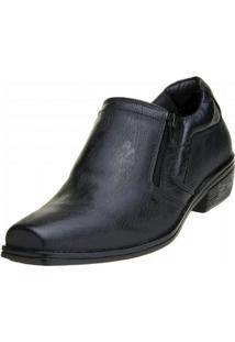 Sapato Social Macshoes Zíper - Masculino-Preto