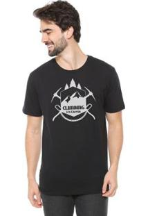 Camiseta Talismã Store De Algodão Eco Canyon Climb Masculina - Masculino-Preto