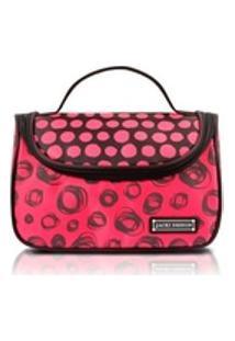 Necessaire Para Viagem Bolinha Vermelho Pop Art Jacki Design