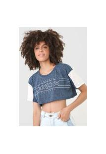 Camiseta Cropped Tricats Forever Azul